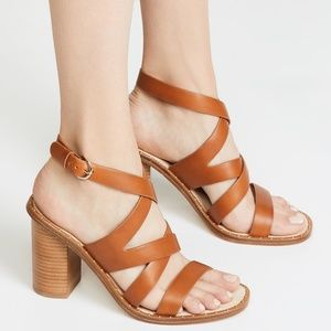 Joie Onfer Strappy Brown Open Toe Leather Sandals